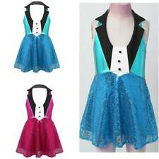 Girls Jazz Dress Ballet Gym Dance Tutu Skirts Kids Sequined Dancewear Costumes