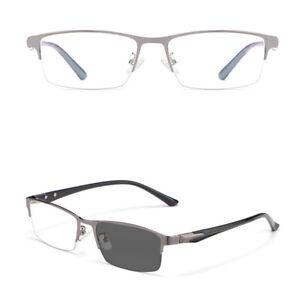 Mens Transition Photochromic Reading Glasses Sunglasses UV400 Readers 0 ~ 4.0 D