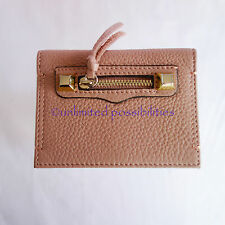 REBECCA MINKOFF Regan Card Case New Leather Vintage Pink with Tag