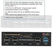 USB 3.0 Hub eSATA SATA Internal Card Reader PC Dashboard Media Front Panel Audio