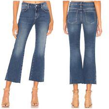 $98 NWT Free People Womens Size 29 Rita Raw Hem Cropped Flare Jeans Blue Denim