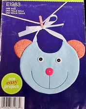 Sew Simple Craft pattern baby gift BIB monkey