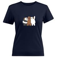 We Bare Bears Panda Grizzly Ice Bear Brotherly Girls Juniors Women Tee T-Shirt
