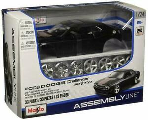Dodge Challenger Diecast Model Kit 1:24 Scale Mini Car Toy Figure Collectibles