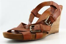 Franco Sarto Slingback Sandals Brown Leather Women Shoes Size 9 Medium (B, M)