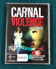 Carnal Violence A.K.A. Torso DVD NTSC Brand NEW Factory SEALED Region 0 Rare OOP