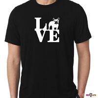 Love French Bulldog Tee Shirt park frenchie