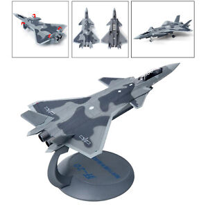 1:144 Scale Diecast Metal J20 Aircraft Model w/ Display Stand Kids Gift