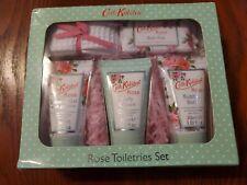 NEW! Cath Kidston Rose Toiletries set shower gel,body cream,bubble bath,fizz