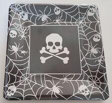 40 x Pirate Party Tableware Square Plates Skull & Crossbones Halloween