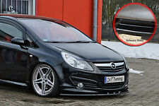 Spoilerschwert Frontspoilerlippe ABS Opel Corsa D GSI OPC-Line  schwarz glänzend