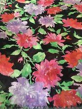 NWT Ralph Lauren Rectangular Black Floral Scarf