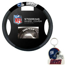 New New York Giants Poly-Suede & Mesh Car Truck Steering Wheel Cover Keychain