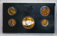 1970-S UNITED STATES MINT 5 COIN PROOF SET STRIKING COLOR BU TONED UNC (MR)