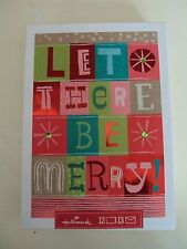"Hallmark Boxed Lot Of 12 Christmas Cards ""Let There Be Merry!"" #awsed8"
