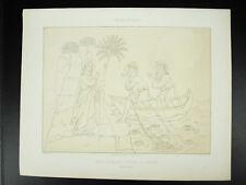 Jésus appelant Pierre et André Italie XIVe Lagrillère  Litho XIXe 1858 Hangard