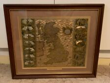 Joannes Jansson Map Of The British Isles 1646 Framed Print