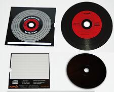 Vinyl CD-R Carbon Rot 10 in Kartonstecktasche ,700 MB zum archivieren