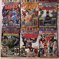 Batman #9 Superman #9 100 PG GIANT WALMART #2 FLASH WONDER TITANS SWAMP FULL SET
