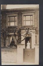 Ancestors Postcard - Unknown Location - Maid? Stood In Doorway of No 17 - RS7718