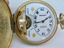 Hunting Case Hebdomas 8 Day Pocket Watch Good Working Order But Needs Attention