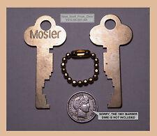 SAFE DEPOSIT BOX KEYS, MOSLER OEM, MATCHED SET of TWO FACTORY-CUT KEYS