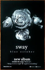 BLUE OCTOBER Sway Ltd Ed Discontinued RARE New Poster +FREE Alt Rock Poster!
