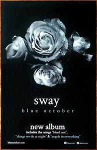 BLUE OCTOBER Sway Ltd Ed RARE New Tour Poster +BONUS Alt Rock Punk Poster!