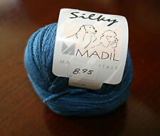 Silky Madil Yarn Worsted Plant Fiber Plied 120 Yards 50 grams Color 463 Blue New