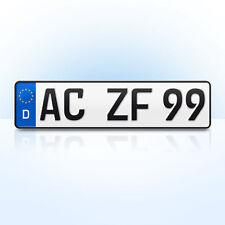 1 Stück EU Kfz-Kennzeichen | 460 x 110 mm | Nummernschilder | Autokennzeichen