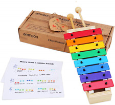 ammoon Xylophone 8 Keys Compact Size Xylophone Glockenspiel with Wooden Mallets