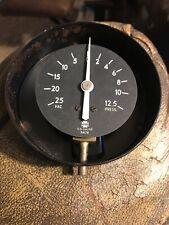 Vintage Vacuum Pressure Gauge Steam Punk Us Gauge 31678 New Old Stock
