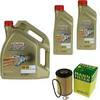 Inspection Kit Filter Castrol 7L Oil 5W30 for Kia Cee'D Sw, Ed 2.0 Crdi