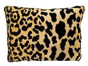 Ballard Design Velvet Animal Print Lumbar Pillow