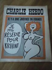 CHARLIE HEBDO N°141 KRIVINE JUSTICE FRANCE ROUSSE NUE 31 juil 1973 ORIGINAL CABU