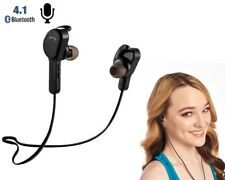 Wireless Bluetooth Earbuds Headset Stereo Best Earphones Sport Headphones (BLK)