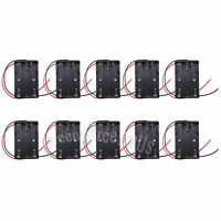 10 pcs 3 AAA 1.5V Battery Holder Storage Case Box with Wire Leads Black US Stock