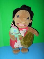 "Disney Store Lilo n Scrump Plush Doll Bag w, Camera n Brush RARE HTF LTD ED 12"""