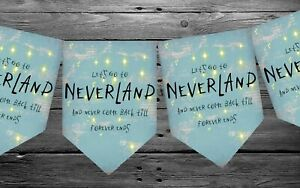 Neverland Bunting Hanging Decoration For Party Decor Home Peter Pan birthday
