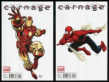 Carnage 2010 Comic 1 - 2 Lot Arthur Adams Iron Man Spider-Man Variant Cover Art