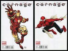 Carnage 2010 Comic 1 - 2 Lot Arthur Adams Iron Man Spider-Man Variant Cover Art