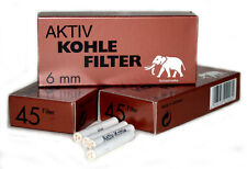 3 boxes x 6mm Active Charcoal pipe FILTER Germany - total 135 filters