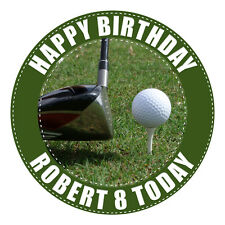 GOLF PERSONALISED EDIBLE REAL ICING IMAGE BIRTHDAY PARTY CAKE DECORATION TOPPER