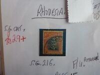 RHODESIA STAMP S.G. 216 4d F.U.