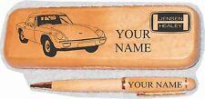Jensen Healey Maple wood Pen  Case Engraved