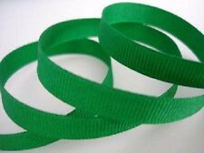 """50 yards Solid Grosgrain 3/8"""" Polyester Ribbon/high quality GR38-11 Kelly Green"""