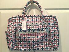 NWT Vera Bradley Lighten Up Weekender Water Geo Travel Bag CarryOn Overnight NEW