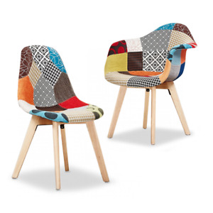 Fabia Dining Chair | Multi-Colour Patchwork Chairs | Retro Modern Chair |
