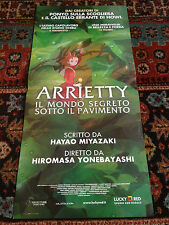 Arrietty locandina poster Animazione Hayao Miyazaki Studio Ghibli Yonebayashi
