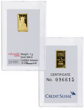 Credit Suisse 1 Gram .9999 Gold Bar - New Sealed With Assay Certificate SKU26513